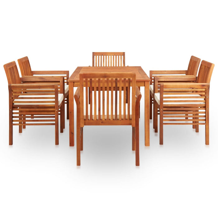 AbillionZ Collection 7 Piece Outdoor Dining Set with Cushions Solid Acacia Wood - AbillionZ