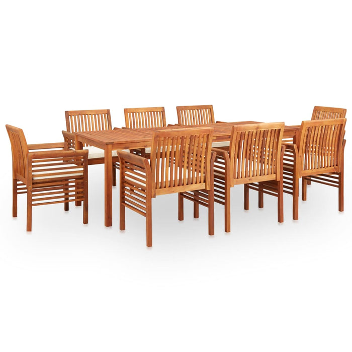 AbillionZ Collection 9 Piece Outdoor Dining Set with Cushions Solid Acacia Wood - AbillionZ