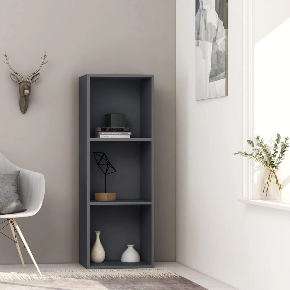 "AbillionZ Collection 3-Tier Book Cabinet Gray 15.7""x11.8""x44.9"" Chipboard - AbillionZ"