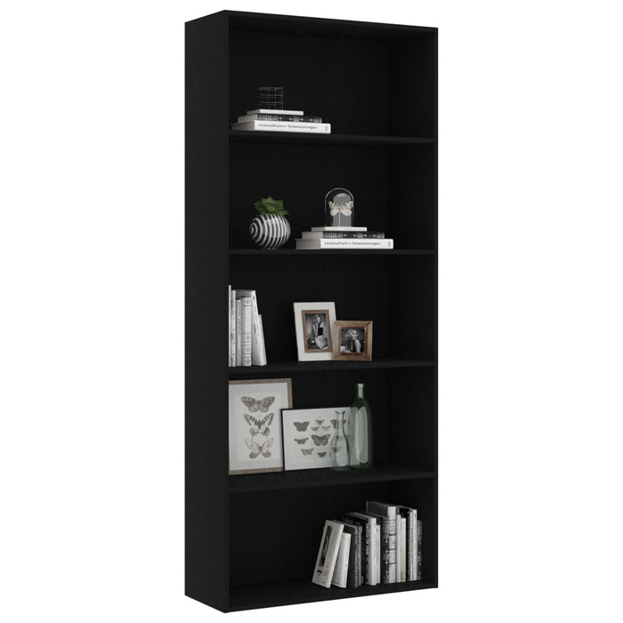 "AbillionZ Collection 5-Tier Book Cabinet Black 31.5""x11.8""x74.4"" Chipboard - AbillionZ"