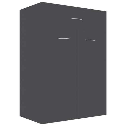"AbillionZ Collection Shoe Cabinet Gray 23.6""x13.7""x33"" Chipboard - AbillionZ"