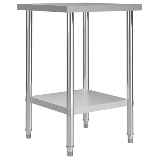"AbillionZ Collection Kitchen Work Table 23.6""x23.6""x33.5"" Stainless Steel - AbillionZ"