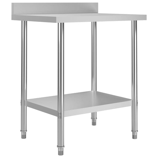 "AbillionZ Collection Kitchen Work Table with Backsplash 31.5""x23.6""x36.6"" Stainless Steel - AbillionZ"