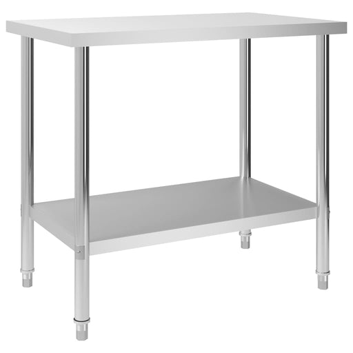 "AbillionZ Collection Kitchen Work Table 39.4""x23.6""x33.5"" Stainless Steel - AbillionZ"