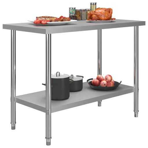 "AbillionZ Collection Kitchen Work Table 47.2""x23.6""x33.5"" Stainless Steel - AbillionZ"