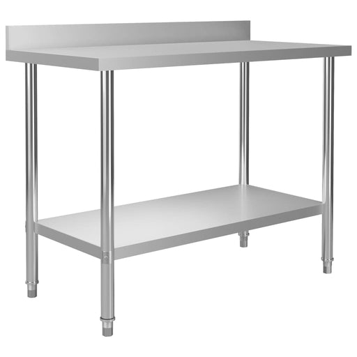 "AbillionZ Collection Kitchen Work Table with Backsplash 47.2""x23.6""x36.6"" Stainless Steel - AbillionZ"
