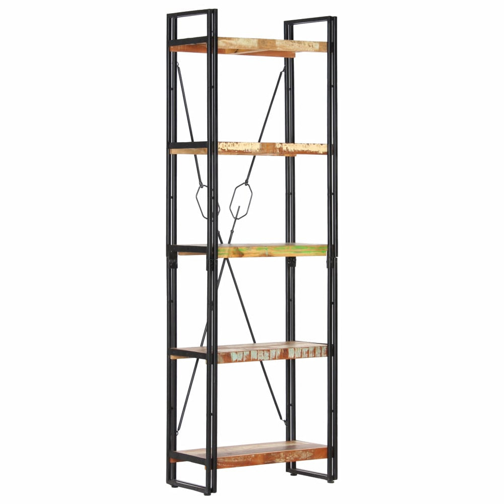 "AbillionZ Collection 5-Tier Bookcase 23.6""x11.8""x70.9"" Solid Reclaimed Wood - AbillionZ"