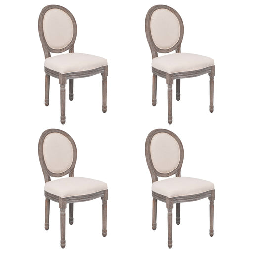 AbillionZ Collection Dining Chairs 4 pcs Cream Fabric (US only) - AbillionZ