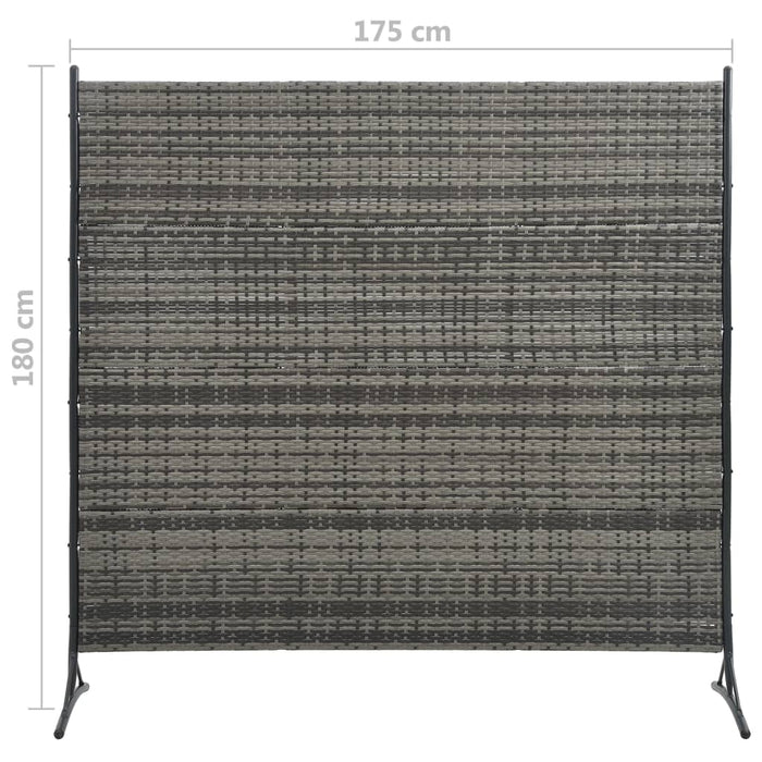 "AbillionZ Collection Room Divider Poly Rattan Anthracite 68.9""x70.9"" - AbillionZ"