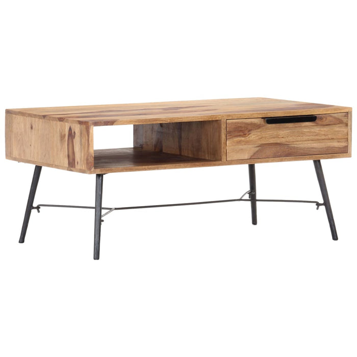 "AbillionZ Collection Coffee Table 34.6""x21.7""x15.7"" Solid Sheesham Wood - AbillionZ"