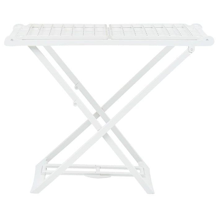 AbillionZ Collection Folding Clothes Dry Rack White Plastic - AbillionZ