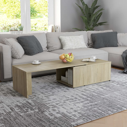 "AbillionZ Collection Coffee Table Sonoma Oak 59.1""x19.7""x13.8"" Chipboard - AbillionZ"