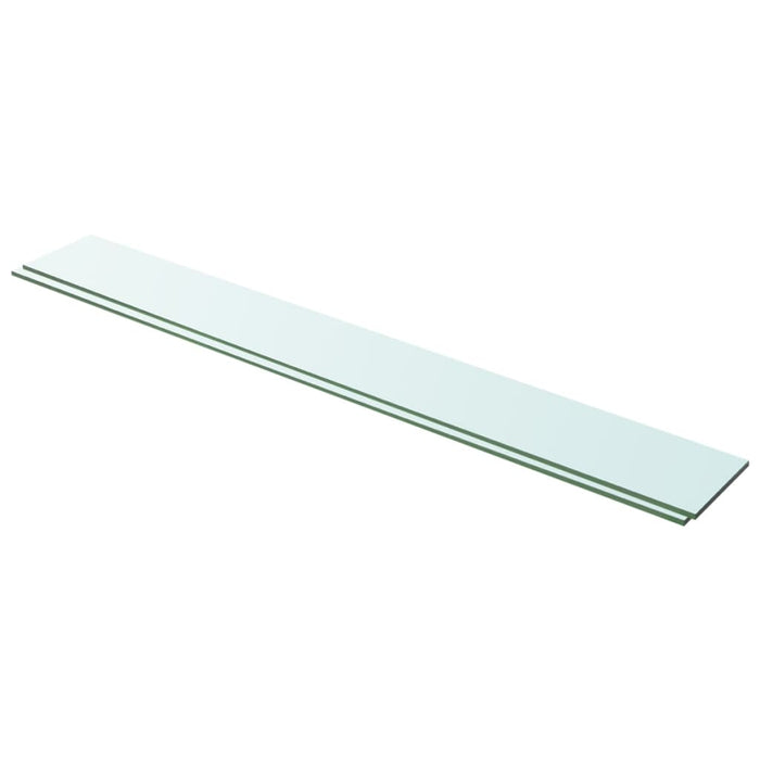 "AbillionZ Collection Shelves 2 pcs Panel Glass Clear 39.4""x4.7"" - AbillionZ"