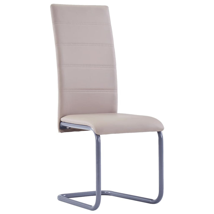 3052980 AbillionZ Collection Cantilever Dining Chairs 6 pcs Cappuccino Faux Leather - AbillionZ