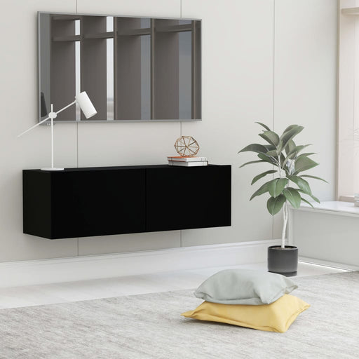 "AbillionZ Collection TV Cabinet Black 39.4""x11.8""x11.8"" Chipboard"
