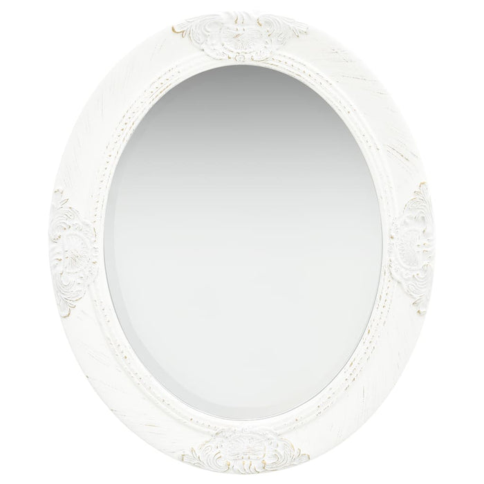 "AbillionZ Collection Wall Mirror Baroque Style 19.7""x23.6"" White"
