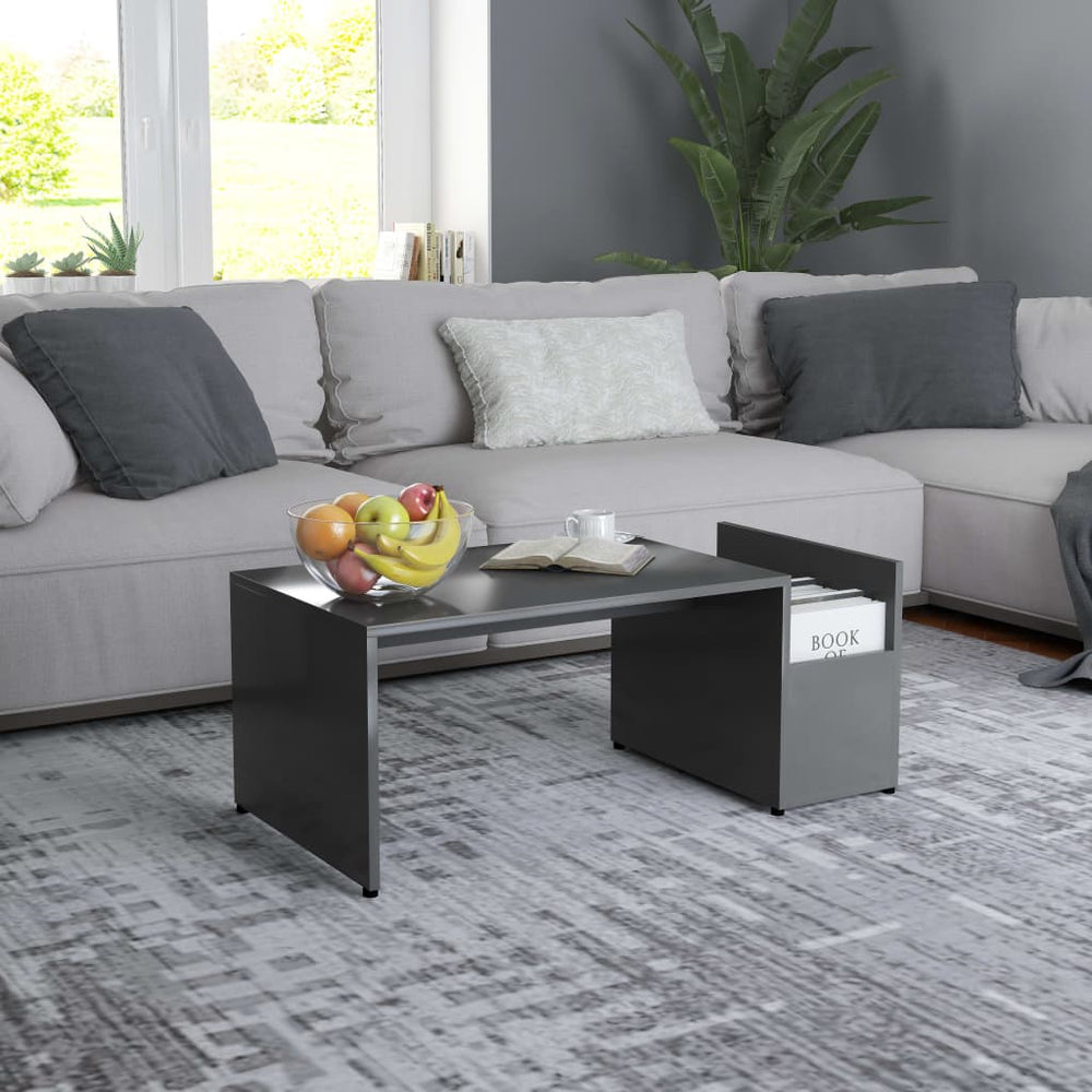 "AbillionZ Collection Coffee Table Gray 35.4""x17.7""x13.8"" Chipboard - AbillionZ"