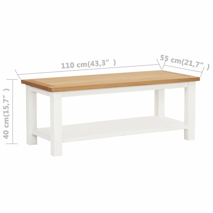 "AbillionZ Collection Coffee Table 43.3""x21.7""x15.7"" Solid Oak Wood - AbillionZ"