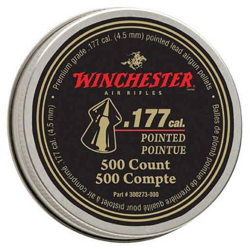 Winchester Pointed .177 Caliber Pellets 500 count - AbillionZ
