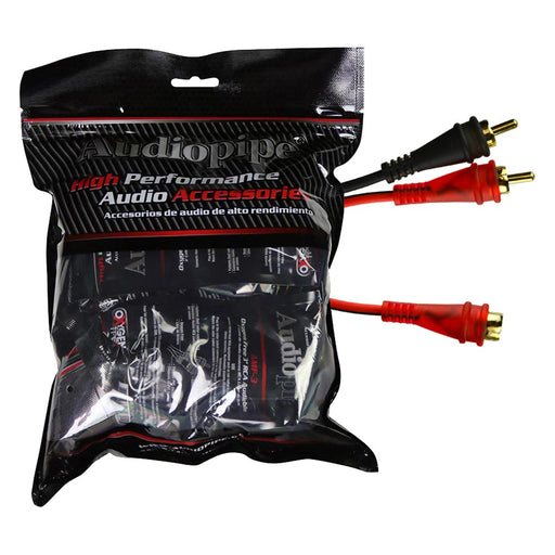 Audiopipe Male to 2F Cable - 10pcs per bag