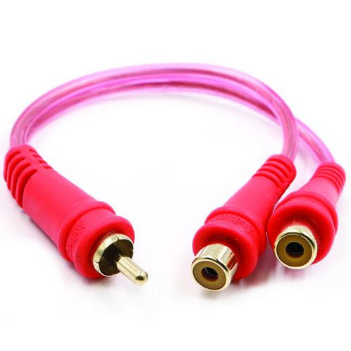RCA SPLITTER AUDIOPIPE 1M-2F CLEAR INSTALLER SERIES