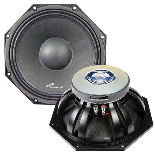 "Audiopipe 12"" Octagon Low Mid Freqeuncy Loudspeaker 1000 Watts Max/500 Watts RMS Single 8 Ohm VC"