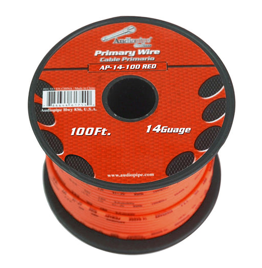 Audiopipe 14 Gauge 100Ft Primary Wire Red