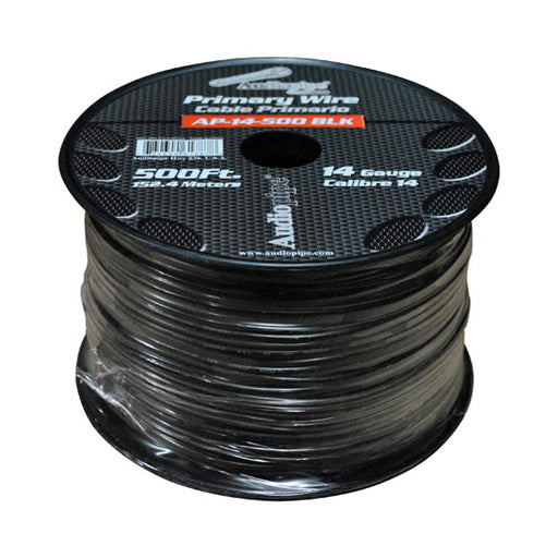 Audiopipe 14 Gauge 500Ft Primary Wire Black