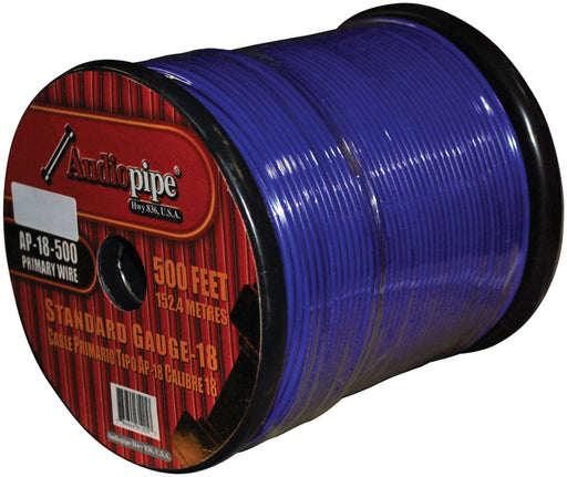(PW18) AUDIOPIPE 18GA WIRE 500' BLUE - AbillionZ