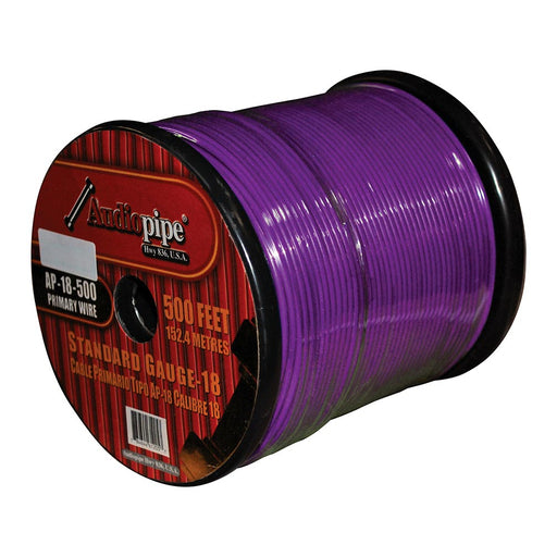 (PW18) AUDIOPIPE 18GA WIRE 500' PURPLE - AbillionZ