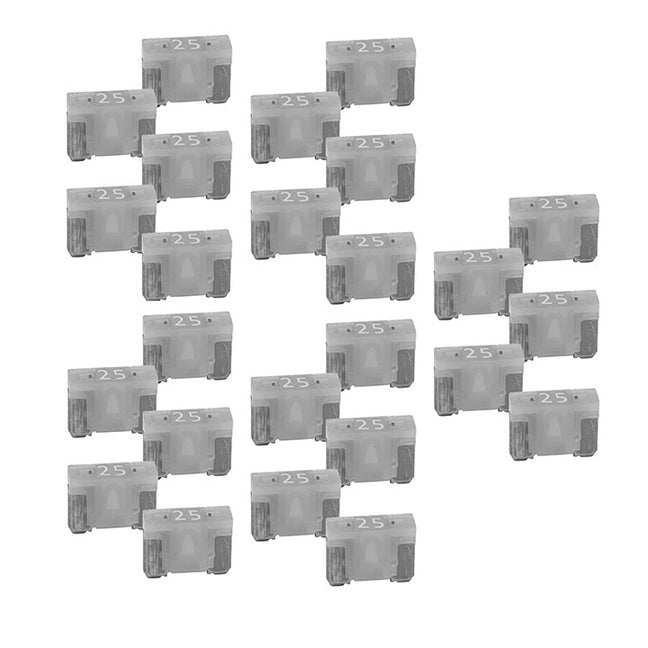 Audiopipe 25A Low Profile Mini Fuse 10 Pack