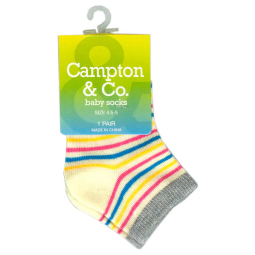 Baby Socks 4.5-5 Assorted Colors - Wholesale Case PACK of 96 - AbillionZ