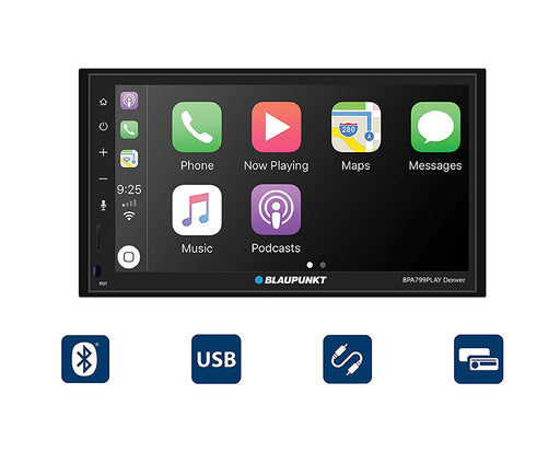 "Blaupunkt Denver 6.8"" Double-Din Mechless Receiver Compatible with Android Auto and Apple Carplay"