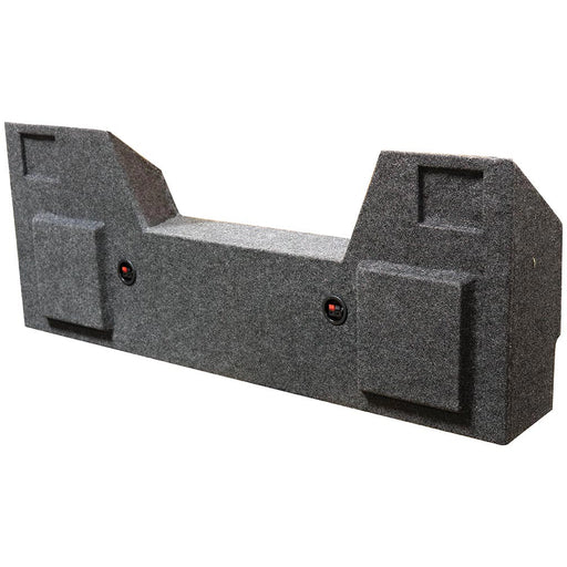 "Qpower Dual 10"" Woofer Box for Dodge Crew Cab 2019 Charcoal Carpet"