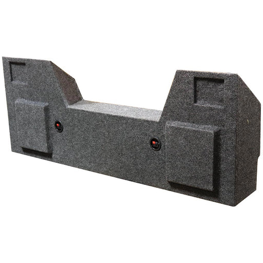 "Qpower Dual 12"" Woofer Box for Dodge Crew Cab 2019 Charcoal Carpet"
