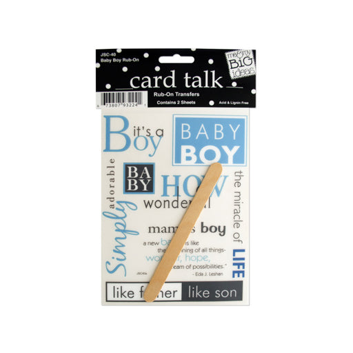 Baby Boy Rub-On Transfers - Wholesale Case PACK of 144 - AbillionZ