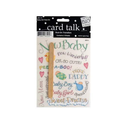 Baby Girl Rub-On Transfers - Wholesale Case PACK of 144 - AbillionZ