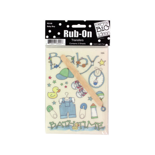 Baby Boy Designs Rub-On Transfers - Wholesale Case PACK of 144 - AbillionZ