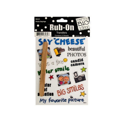 Photo Sayings Rub-On Transfers - Wholesale Case PACK of 144 - AbillionZ