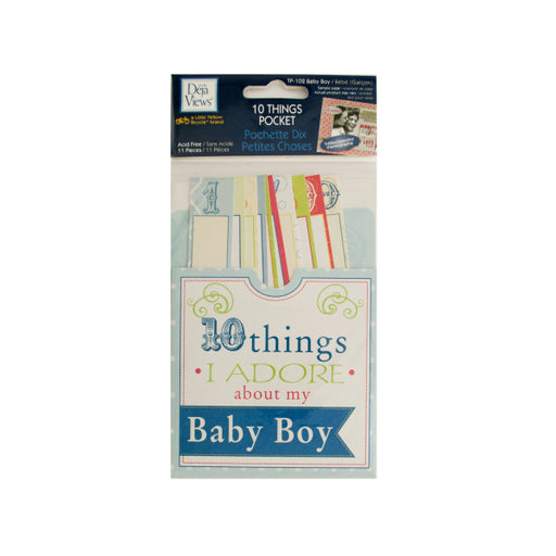 10 Things I Adore About My Baby Boy Journaling Pocket - Wholesale Case PACK of 120 - AbillionZ