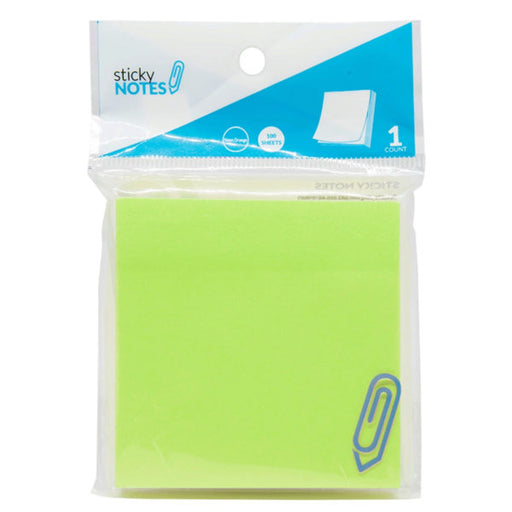 "3"" X 3"" Neon Green Sticky Notes - Wholesale Case PACK of 96 - AbillionZ"
