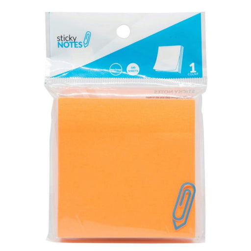 "3"" X 3"" Neon Orange Sticky Notes - Wholesale Case PACK of 96 - AbillionZ"