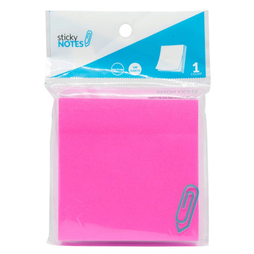 "3"" X 3"" Neon Pink Sticky Notes - Wholesale Case PACK of 96 - AbillionZ"