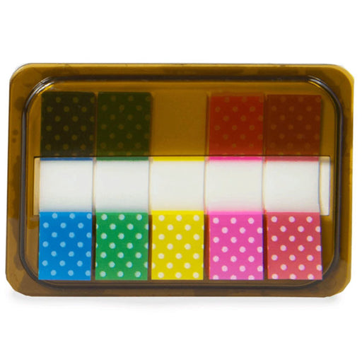Mini Sticky Page Markers, Polka Dots - Wholesale Case PACK of 96 - AbillionZ