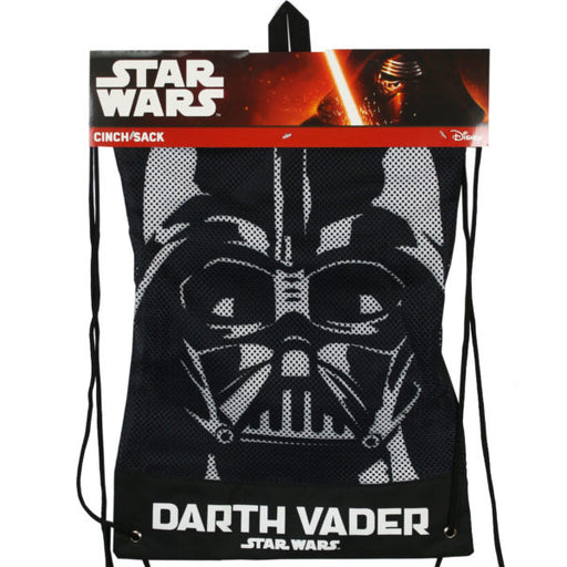 Star Wars Darth Vader Cinch Sack Drawtring Backpack - Wholesale Case PACK of 24 - AbillionZ