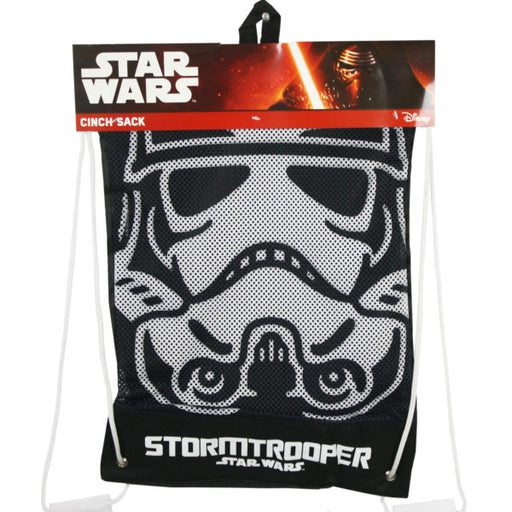 Star Wars Storm Trooper Cinch Sack Drawtring Backpack - Wholesale Case PACK of 24 - AbillionZ