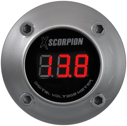 XSCORPION VOLTMETER DIGITAL 3 DIGIT LED DISPLAY SILVER - AbillionZ