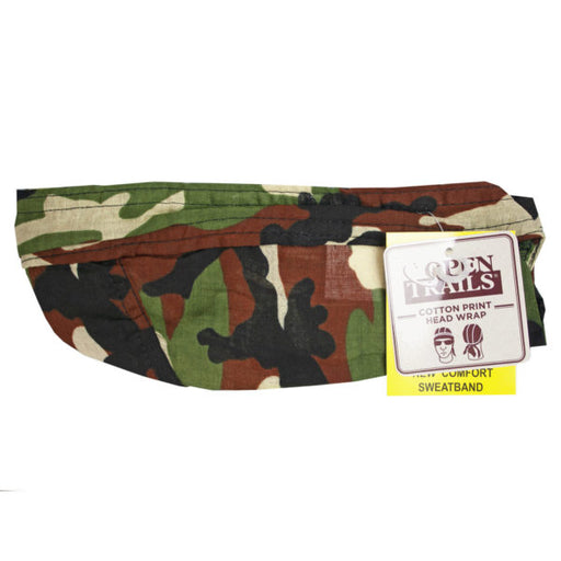 Mens Camo Print Head Wrap - Wholesale Case PACK of 96 - AbillionZ