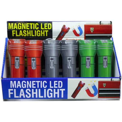flat magnetic flashlight countertop display - Wholesale Case PACK of 24 - AbillionZ
