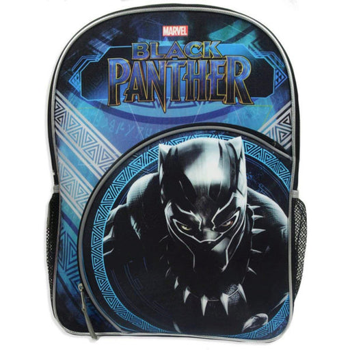 "Marvel's Black Panther 16"" Blue Backpack with Bottle Holder - Wholesale Case PACK of 8 - AbillionZ"